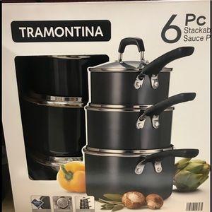 Tramontina 6-Piece Stackable Cookware Set